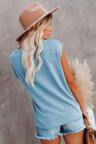 Maglietta lavorata a maglia con tasche e spacchi laterali