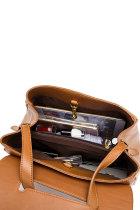 Brązowa torebka crossbag ze sztucznej skóry z regulowanym paskiem