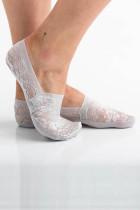 Goreyên Sneaker ên Floral Lace-Slip-Grey