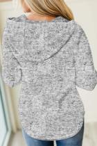 Zapinana na guziki codzienna bluza z kapturem