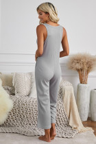 Grå lomme, termisk ermeløs jumpsuit