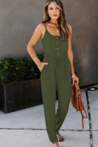 Grønn Pocketed Knit Jumpsuit
