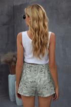 Pantaloncini casual con coulisse mimetici grigi