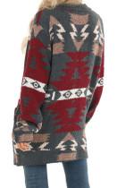 Szary kardigan Moraga Aztec z kieszeniami