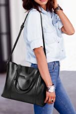 Czarna wielofunkcyjna torebka PU