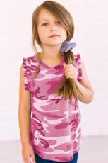 Camo Print Vippede ermhull Little Girls 'Tank