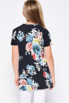 Musta painettu Twist-tyttöjen t-paita