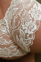 Culotte en dentelle translucide blanche