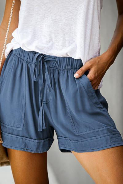 Short en tencel à poches bleu Strive