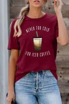 شراب قرمز هرگز برای تی شرت با کافه ICED خیلی سرد نیست