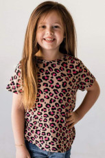 Rose Leopard Little Girls Tee