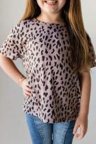 Musta Leopard Little Girls -t-paita