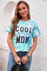 آبی روشن COOL MOM Tie Dye Tee