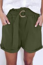 Zöld alkalmi papír derék nadrág