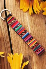 Porte-clés imprimé Boho multicolore