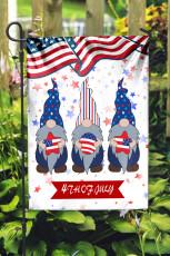 Dört Temmuz Amerikan Bayrağı Tatil Kutlaması Yüzsüz Bebek Afiş