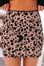 Leopard Bodycon mini szoknya
