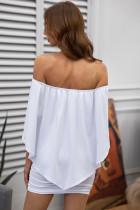 Wiele Dressing Warstwowa Biała Mini Sukienka Poncho