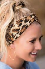 Leopard nyomtatott sport jóga fejpánt