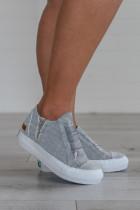 کفش کتانی توری توری خاکستری
