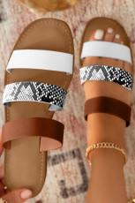 تسمه های حلقه ای رنگ حلقه ای انگشتان پا گرد کفش های پشت باز را باز می کند