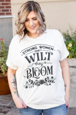 T-shirt Taille Plus Bloom Grapic Strong Women