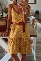 Vestido floral amarillo con tirantes finos