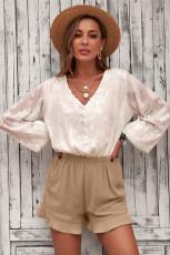 Khaki fehérnemű pamut zsebes, habverős nadrág