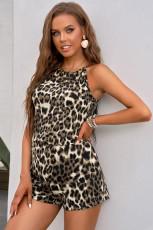 Leopardikuvioinen riimu Romper
