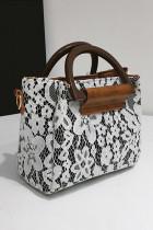 الدانتيل الأبيض تراكب بو حقيبة يد حقيبة كروسبودي