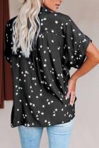 قميص بأكمام طويلة وطبعة نجوم سوداء