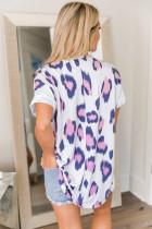 Animal Print V آستین کوتاه گردن