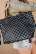 کیف دستی مشکی خاکستری با کیف تطبیقی