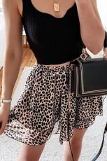 Leopardmintás mini szoknya