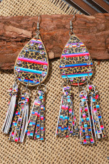 Fargerike Leopard Stripe Paljetter øreringer