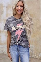 Charcoal Camo Blondie Tee