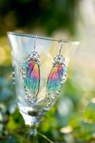 Gyémánt szárnyú pillangós fülbevalók