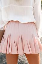 Rózsaszín koreai magas derékú Tutu rakott mini szoknya