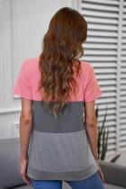 Szürke kontrasztú Colorblock póló