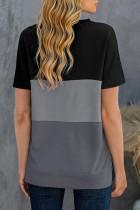 Fekete Contrast Colorblock póló