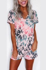 Tie Dye Shift T-shirt et short Loungewear