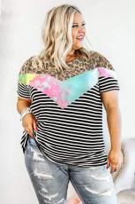 Crew Neck Mix Prints Plus méretű póló