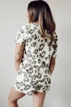 Ensemble de salon d'été décontracté à imprimé léopard
