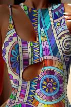 Boho Tribal Print Cut-out badedrakt