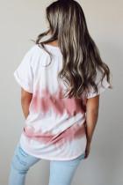 Slipsfarget T-skjorte med rullet erme