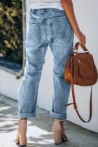 Snor med høy midje Daisy Patches Jeans med rett ben