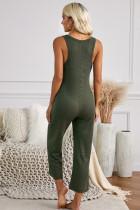 Zelená kapesní termální kombinéza bez rukávů