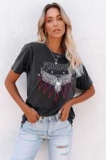 FREEDOM EAGLE Sıkıntılı Tişört