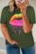 グリーン ネオン リップス グラフィック プラス サイズ T シャツ
