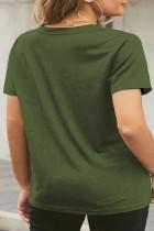 Zöld Neon ajkak grafikus plusz méretű póló